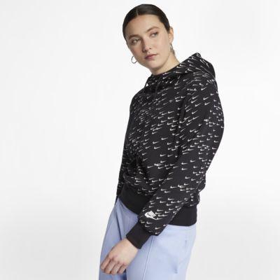 Huvtröja med tryck Nike Sportswear Swoosh för kvinnor