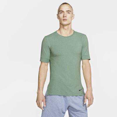 Nike Dri-FIT kortermet treningsoverdel for yoga til herre