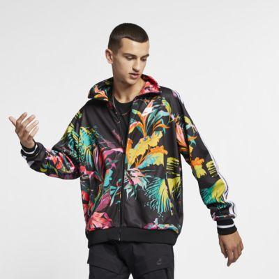 Nike Sportswear NSW 'Palm Tree' Men's Foldable Collar Track Jacket