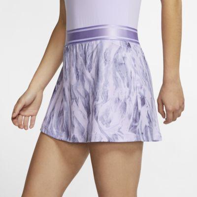 NikeCourt mønstret tennisskjørt til dame