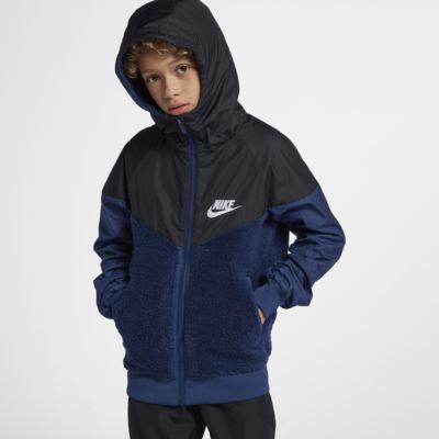 Nike Sportswear Windrunner Boys' Sherpa Jacket