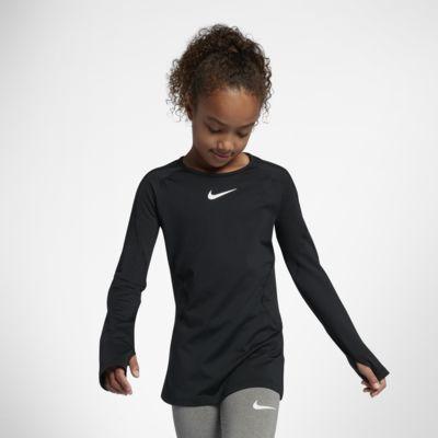 Haut de training à manches longues Nike Pro Warm pour Fille plus âgée