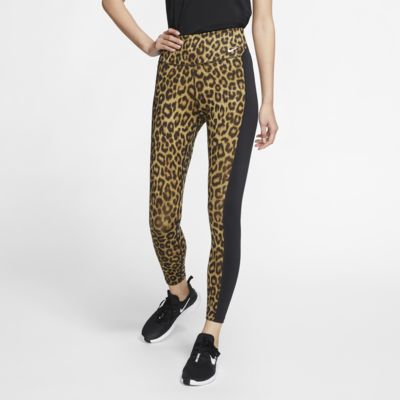 Tights leopardati a 7/8 Nike One - Donna