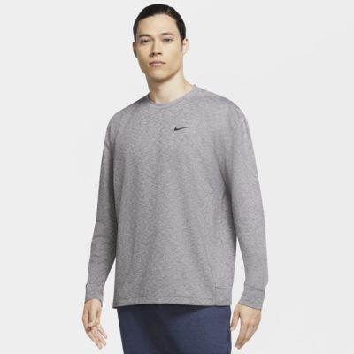 Nike Dri FIT Langarm Trainings T Shirt für Herren