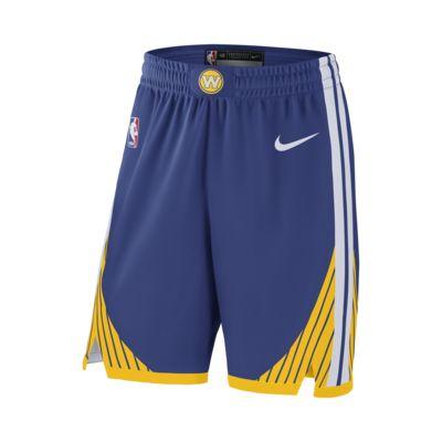 กางเกงขาสั้น NBA ผู้ชาย Golden State Warriors Nike Icon Edition Authentic