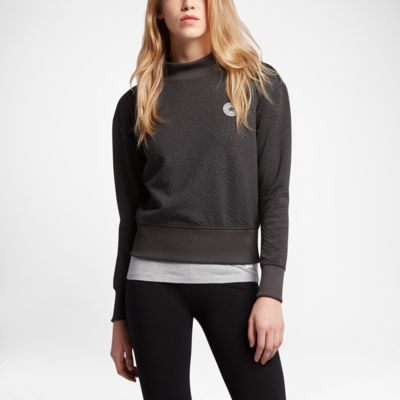 Converse Shield Mock Neck Crew Women's Sweatshirt
