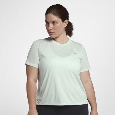 Nike Miler kortermet løpetopp for dame (store størrelser)