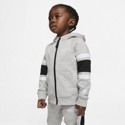 Felpa in fleece con cappuccio e zip a tutta lunghezza Nike Air - Bimbi piccoli