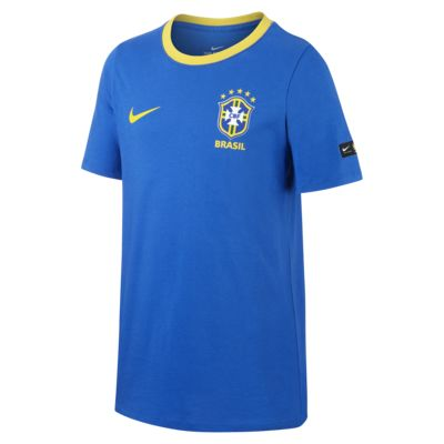 Camiseta con estampado para niños talla grande Brasil CBF