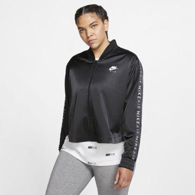 Chamarra de entrenamiento de satén para mujer Nike Air (talla grande)