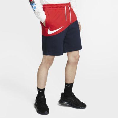 กางเกงขาสั้นผ้าเฟรนช์เทรีผู้ชาย Nike Sportswear Swoosh