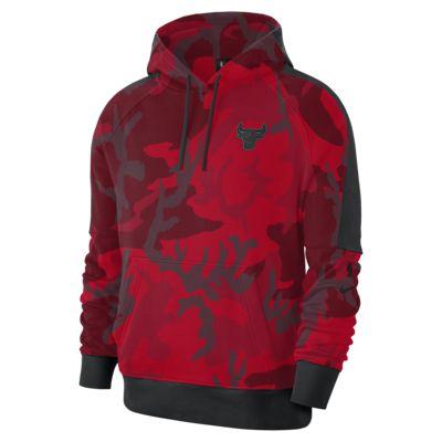 Ανδρική μπλούζα με κουκούλα NBA Chicago Bulls Nike