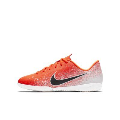 Fotbollssko för inomhusplan/futsal/street Nike Jr. VaporX 12 Academy IC för barn/ungdom