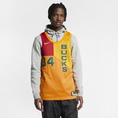 Giannis Antetokounmpo City Edition Swingman (Milwaukee Bucks) Nike NBA connected jersey voor heren