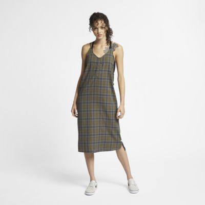 Hurley Tank Women's Plaid Maxi Dress