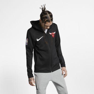 Chicago Bulls Nike Therma Flex Showtime NBA-s kapucnis férfipulóver