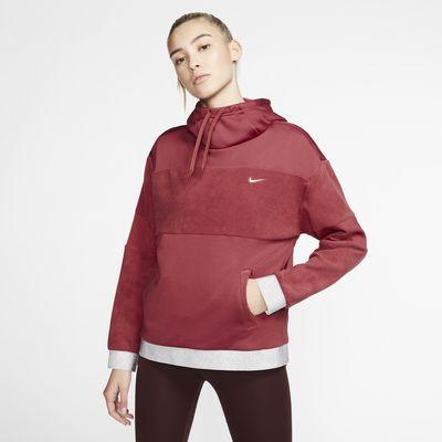 Nike Icon Clash-pullover-træningshættetrøje i fleece til kvinder