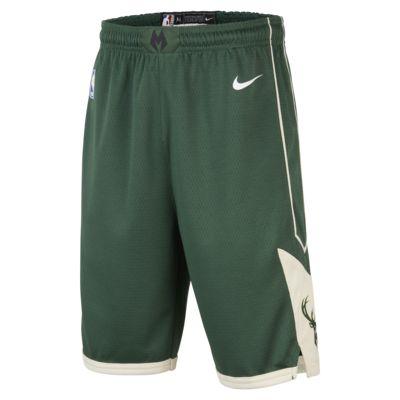Milwaukee Bucks Nike Icon Edition Swingman – NBA-shorts til store børn (drenge)