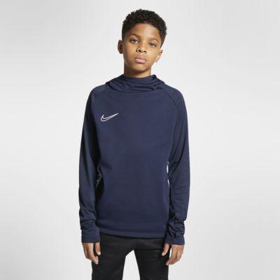 Nike Dri-FIT Academy-pullover-fodboldhættetrøje til store børn