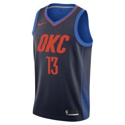 Paul George Statement Edition Swingman (Oklahoma City Thunder) tilkoblet Nike NBA-drakt til herre