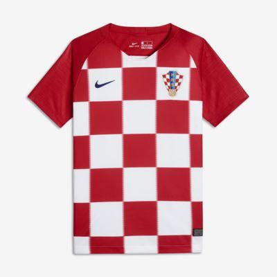 2018 Kroatien Stadium Home Fußballtrikot für ältere Kinder