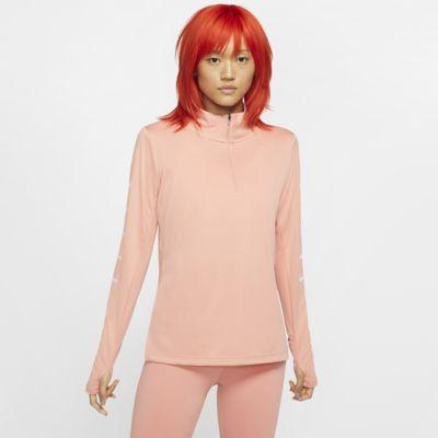 Γυναικεία μπλούζα για τρέξιμο με φερμουάρ στο μισό μήκος Nike Swoosh