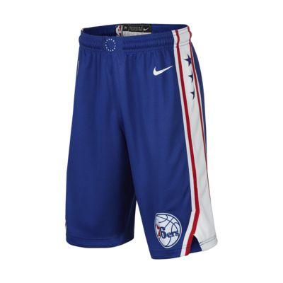 费城 76 人队 Icon Edition SwingmanNike NBA大童(男孩)短裤