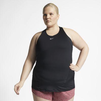 Γυναικείο φανελάκι με διχτυωτό υλικό σε όλη την επιφάνεια Nike Pro (μεγάλα μεγέθη)