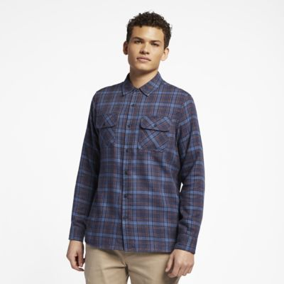 Hurley Walker Men's Long-Sleeve Flannel Shirt