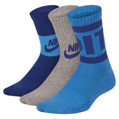 Nike Little Kids' JDI Cushioned Crew Socks (3 Pairs)