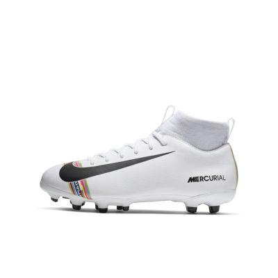 Nike Jr. Superfly 6 Academy LVL UP MG-fodboldstøvlen til små og store børn til flere typer underlag