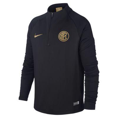 Nike Dri-FIT Inter Milan Strike futball-gyakorlófelső nagyobb gyerekeknek