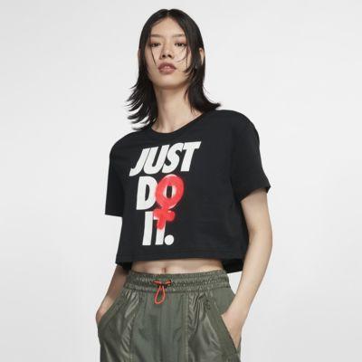 เสื้อยืดเอวลอยผู้หญิง Nike Sportswear
