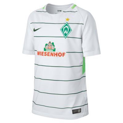 Camiseta de fútbol para niños talla grande Werder Bremen de visitante para aficionados, temporada 2017/18