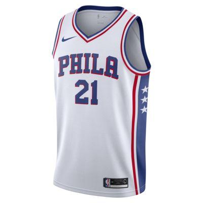 Camiseta conectada para hombre Nike NBA Joel Embiid Association Edition Swingman (Philadelphia 76ers)