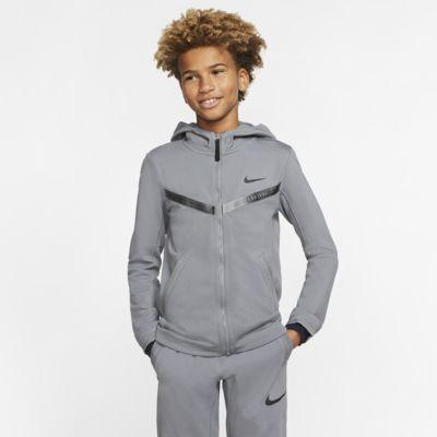 Sudadera con capucha de cierre completo para niño talla grande Nike Sportswear Tech Pack