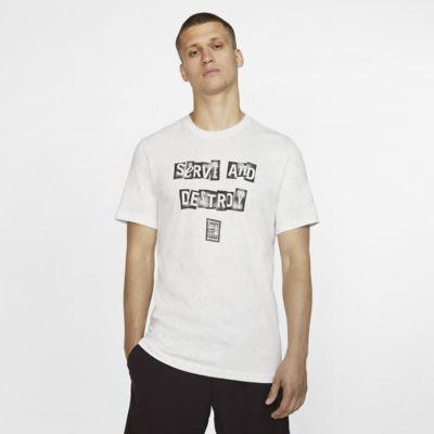 Męski T-shirt do tenisa z nadrukiem NikeCourt