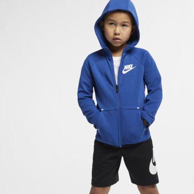 Μπλούζα με κουκούλα Nike Sportswear Tech Fleece για μικρά παιδιά