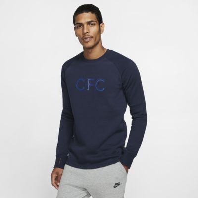 Chelsea FC-crewtrøje i fleece til mænd