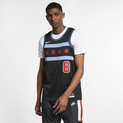 Maillot connecté Nike NBA Zach LaVine City Edition Swingman (Chicago Bulls) pour Homme