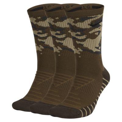 Ψηλές κάλτσες προπόνησης με μοτίβο παραλλαγής Nike Everyday Max Cushion (3 ζευγάρια)