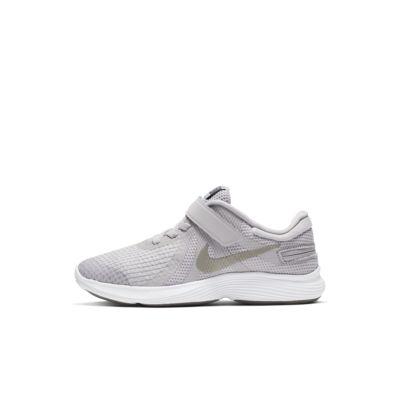 Купить Кроссовки для дошкольников Nike Revolution 4 FlyEase, Atmosphere Grey/Thunder Grey/Светло-голубой поток/Оловянный металлик, 23563990, 12685594