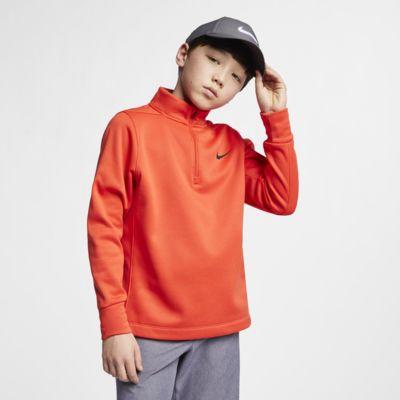 Nike Dri-FIT Therma rövid cipzáras golffelső nagyobb gyerekeknek (fiúk)