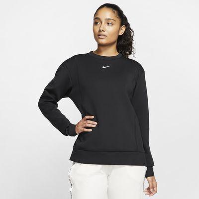 Nike Pro Fleeceshirt met ronde hals voor dames
