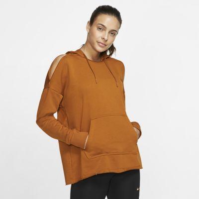 Nike Icon Clash-træningshættetrøje i fleece til kvinder
