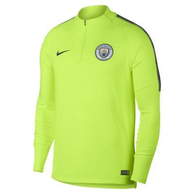 Manchester City FC Dri-FIT Squad Drill-langærmet fodboldtrøje til mænd