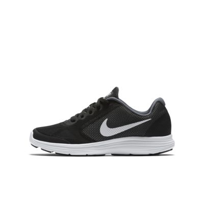 Купить Беговые кроссовки для школьников Nike Revolution 3, Темно-серый/Черный/Чистая платина/Белый, 16147861, 10872065