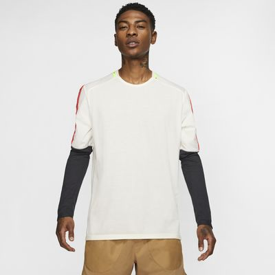 Prenda para la parte superior de running de manga larga para hombre Nike