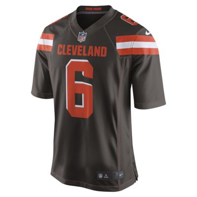 NFL Cleveland Browns (Baker Mayfield) Men's Game Football Jersey