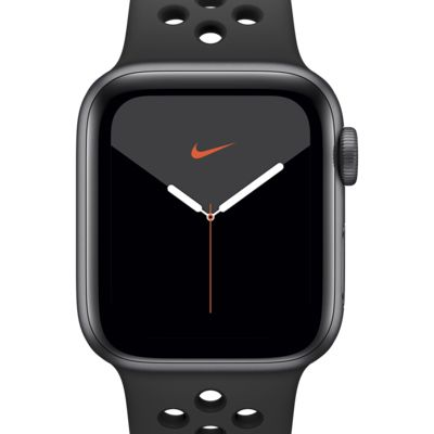 Apple Watch Nike Series 5 (GPS + Mobilfunk) mit Nike Sport Band 40-mm-Aluminumgehäuse in Space Gray